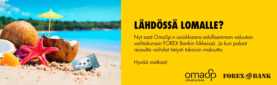 Lähdössä lomalle - Forex ja Oma Säästöpankki