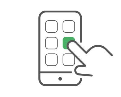 mobiilikäyttövaiheen 2 kuva, jossa puhelimeen syötetään pin-koodi