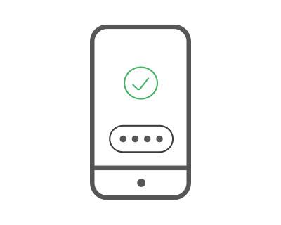 mobiilikäyttövaiheen 3 kuva, jossa puhelimen ruudulla näkyy vahvistus