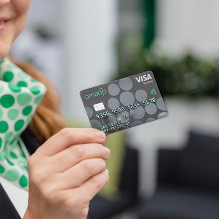 kuvassa oma säästöpankin yrityskortti